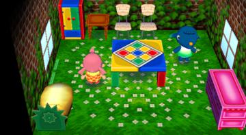 Interior of Axel's house in Animal Crossing: City Folk