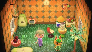 Interior of Tangy's house in Animal Crossing: New Horizons