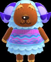 Baabara, an Animal Crossing villager.