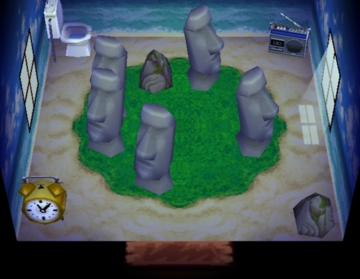 Interior of Dotty's house in Animal Crossing