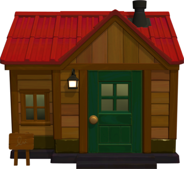 Exterior of Grizzly's house in Animal Crossing: New Horizons