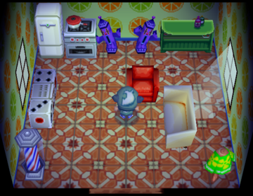 Interior of Peanut's house in Animal Crossing