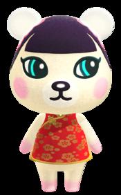 Pekoe, an Animal Crossing villager.