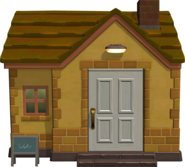 Exterior of Carrie's house in Animal Crossing: New Horizons