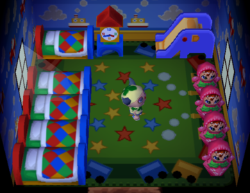 Interior of Lulu (villager)'s house in Animal Crossing