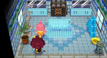 Interior of Mott's house in Animal Crossing: City Folk