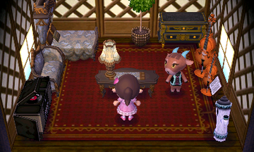 Interior of Pashmina's house in Animal Crossing: New Leaf