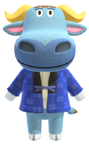 T-Bone, an Animal Crossing villager.