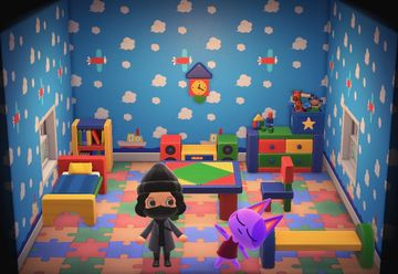 Interior of Bob's house in Animal Crossing: New Horizons