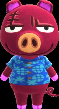 Rasher, an Animal Crossing villager.