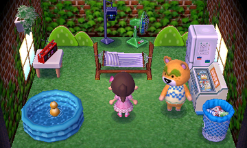 Interior of Nate's house in Animal Crossing: New Leaf