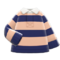 Thick-Stripes Shirt (Beige & Navy) NH Icon.png