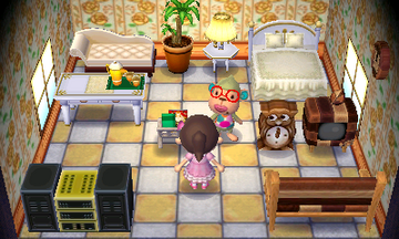 Interior of Elise's house in Animal Crossing: New Leaf