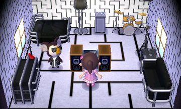 Interior of Eugene's house in Animal Crossing: New Leaf