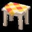 Wooden Mini Table (White Wood - Orange)