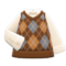 Argyle Vest (Brown) NH Icon.png