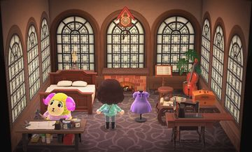 Interior of Willow's house in Animal Crossing: New Horizons