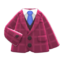 Tweed Jacket (Berry Red) NH Icon.png