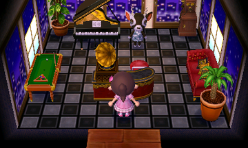 Interior of Zell's house in Animal Crossing: New Leaf