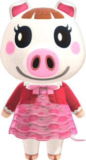 Lucy, an Animal Crossing villager.