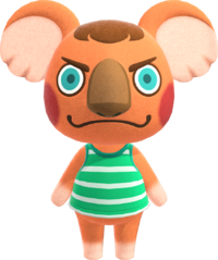 Canberra, an Animal Crossing villager.