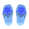 Flower Sandals (Blue) NH Icon.png