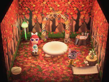 Interior of Deirdre's house in Animal Crossing: New Horizons