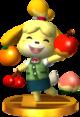 Isabelle SSB4 Trophy (3DS).png