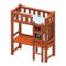 Loft Bed with Desk (Brown - Light Blue) NH Icon.png
