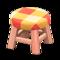 Wooden Stool (Pink Wood - Orange) NH Icon.png
