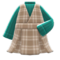 Checkered Jumper Dress (Green) NH Icon.png