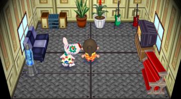 Interior of Astrid's house in Animal Crossing: City Folk