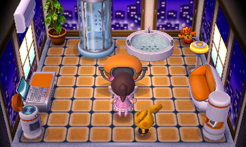 Interior of Chadder's house in Animal Crossing: New Leaf
