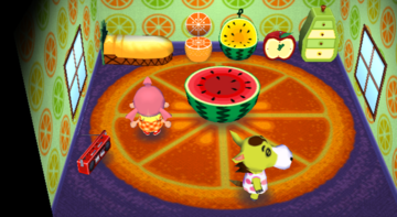 Interior of Clyde's house in Animal Crossing: City Folk