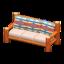 Log Extra-Long Sofa (Orange Wood - Geometric Print)