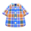 Madras Plaid Shirt (Blue) NH Icon.png