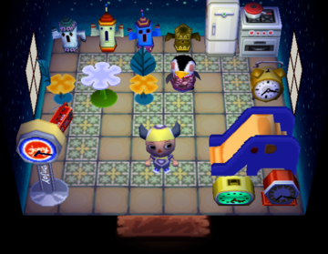 Interior of Aurora's house in Animal Crossing