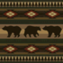 Log Dining Table with the Bears pattern applied.