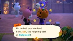 From top to bottom: Halloween, Turkey Day, and Toy Day, three major events in the Animal Crossing series.
