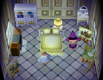 Interior of Pecan's house in Animal Crossing