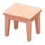Wooden Mini Table (Pink Wood - None)