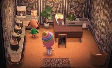 Interior of Bea's house in Animal Crossing: New Horizons