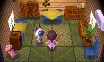 Interior of Mitzi's house in Animal Crossing: New Leaf