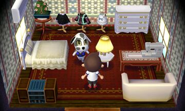 Interior of Portia's house in Animal Crossing: New Leaf