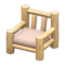 Log Chair (White Wood - None) NH Icon.png