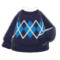 Argyle Sweater (Black) NH Icon.png