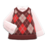Argyle Vest (Red) NH Icon.png