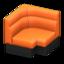 Box Corner Sofa (Orange)