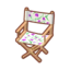 Floral Chair (Purple Tulips)