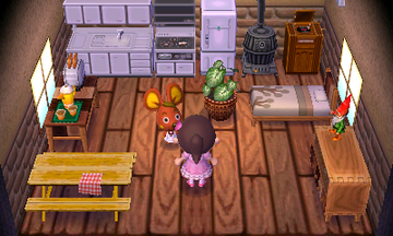 Interior of Bettina's house in Animal Crossing: New Leaf